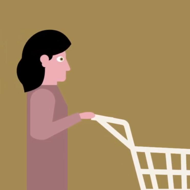 Animatie winkelwagen eenvoudige taal